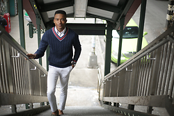 Igee Okafor - Frank And Oak Oxford Shirt, Lands End Cricket Sweater, H&M Trousers - The Cricket Sweater