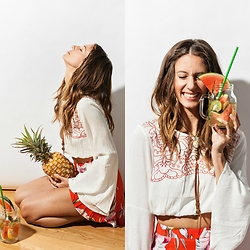 Kiara Schwartz - Minkpink Top, Minkpink Shorts - Watermelon Juice