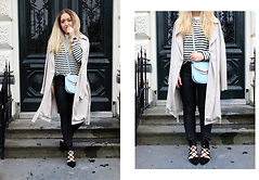 Lilia - Romwe Striped Top, Missguided Bag, River Island Lace Up Shoes, H&M Jeans, Stradivarius Trench - The Perfect Stripe