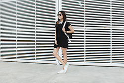 Kiara Ventura - Adidas Sneakers, Mango Vest, Mrkt Backpack, Ray Ban Sunglasses - THE FUTURE