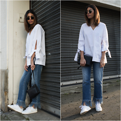 Storm West - Cos Blouse, Msgm Jeans, Adidas Sneakers - Hi there sun - msgm jeans.