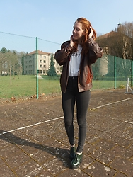 Charlotte Cocopop - Tally Weijl Heels, Pull & Bear Jeans, Vintage Jacket, Levi's® Shirt - Dream big