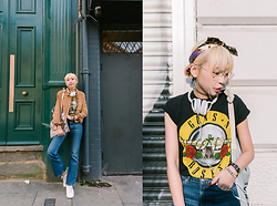 Kennie Cheng - Guns N Roses Tshirt, Monki Jeans, Stan Smith Shoes - GUNS N ROSES