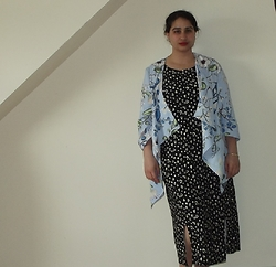 Selina M - Dorothy Perkins Floral Blazer, Self Made Jersey Dress - Long and loose
