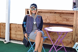 Fernanda Vasil - Rosa Chá Jacket, Pull & Bear Dress, Ovs Hat - Sport chic