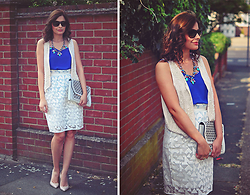 Elena Sandor - Front Row Shop Skirt, New Look Top, Forever 21 Vest, Topshop Heels, Happiness Boutique Necklace, Asos Clutch - Organza dream