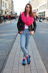 Chelsea Jade - H&M Jacket, Asos Shoes - Pink Fluffy Collar