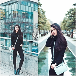 Ellen Kaminagakura - The Philo Project Crossbody Bag, Ozoc Shirt, Emoda High Waist Denim, H&M Ankle Boots, Willow & Hunt Bracelet, C&C Lifestyles Watch - Mint