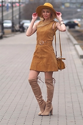 Marina Skater - Monki Dress, Zara Bag, Choies Boots, H&M Hat - Dresses