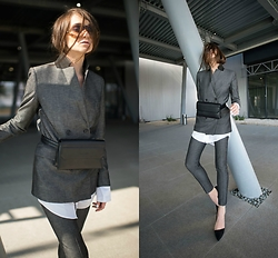 Neoandlime - Charles & Keith Waistbag - Oversized cuffs? Yes pleeease!