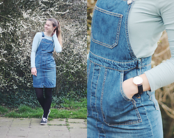 Luna G. - Forever 21 Denim Overall Dress, Forever 21 Top, Vans Shoes - Overall