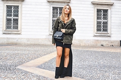 Fernanda Vasil - Alcott Jacket, Farm Dress - Black dress + militar jacket