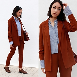 Esther L. - Missguided Cigarette Suit Trousers, Missguided Boyfriend Tailored Suit, Zara Bell Sleeved Shirt - KEEP IT CLASSY