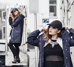 Rachel Ecclestone - Rain Couture Fest, Weekday Cap, Happiness Boutique Statement Necklace - Rain Couture