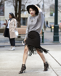 Jeannie Y - Zara Sweater, Forever 21 Fringe Skirt, Twotwoshoes Heels, H&M Hat - The Last Fringe