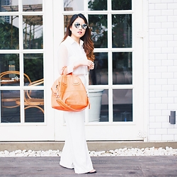 Pamela Wirjadinata - Posh The Label Top, Posh The Label Pants, Givenchy Bag, Givenchy Sunglasses - Clean White