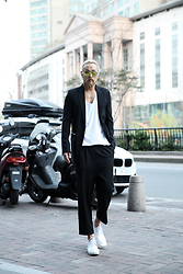 INWON LEE - Byther Yellow Lens Sunglass, Byther Chic Gothic Black Blazers - Exotic Dandy Casual Style