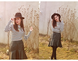 Roxana Ionescu - H&M Sweater, Koton Skirt, H&M Necklace, Pimkie Hat, Pull & Bear Boots - Fool you like a bank robber with a fake gun.