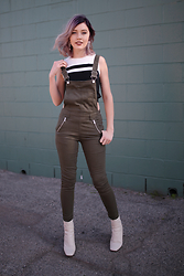 Maddie T - Forever 21 Top, H&M Dungarees, Topshop Boots - Digging Dungarees