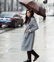 That Girl Gick - Chanel Beanie, Louis Vuitton Umbrella, Choies Coat, Givenchy Rain Boots - Rainy Day