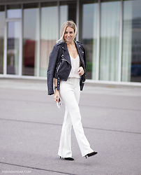 Lian G. - Warehouse Jacket, American Vintage Top, H&M Trousers - Rocking a retro trend