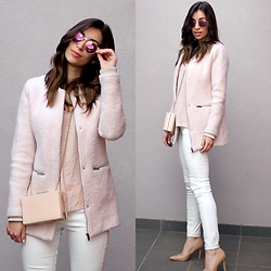 Betty K - Bershka Coat, H&M Trousers - PINK FOR SPRING
