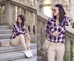 Daisyline . - Pull & Bear Sneakers, Zara Pants, Zara Shirt - Casual look with sneakers / www.daisyline.pl