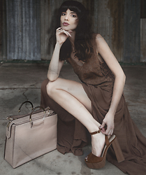 Elle-May Leckenby - Myrtle Dress, C&K Shoes & Bag :) - Rust palate