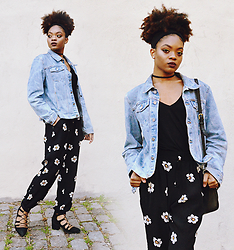 Alicia Nicholls - Zara Loose Fit Trousers, Topshop Jill Ghillie Heels, Calvin Klein Vtg Denim Jacket - Styling the Denim Jacket this Spring