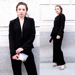 The Indie Girl Fleming - Choies Black Tie Jumpsuit - Black Tux