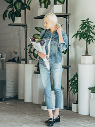 Rima Vaidila - Ag Jeans Denim Jacket - Flower shop sundays