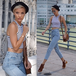 Katya Shay - Topshop Crop Top, Topshop Mom Jeans, Topshop Shoes, Forever21 Cross Body Bag - Street Style Look