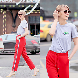 Liuba Basharova -  - Red track pants