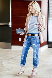 Kim Tuttle - Jag Jeans Alex Boyfriend, Jag Jeans Brier, Missguided Camel Blazer, Valentino Rockstuds - Day to night jeans
