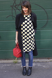 Berny . - The White Pepper Egg Print Dress, Second Hand Jeans, Topshop Sandals - Egg print dress