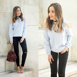 Besugarandspice FV - Zara Top, Zara Bag - Off the shoulder