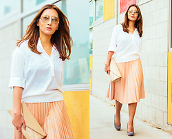 The Ambitionista - Zara Pleated Skirt, Roberto Cavalli Sungleasses - Soft Minimal