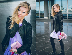 Anna Turanova - Artjam, Zara Boots, H&M Jeans, From Bee. With Love. Clutch, Yayoi Bracelet, Asos Jacket - Rock April