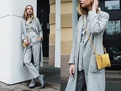 Dasha Shcerbakova - Romwe Coat, H&M Bag, Monki Shoes, Massimo Dutti Suit - FINALLY IT'S SPRING