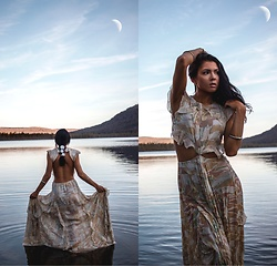 Jessica B. - Free People Valentina Maxi - By the Moonlight