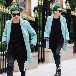 Brandon Tran - Céline Sunglasses, Adidas Pants - Minty Fresh