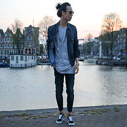 Christian Chou - Nudie Jeans Billy, Nudie Jeans Lean Dean, Vans Old Skool - ▼▽ Lean Dean ▽▼
