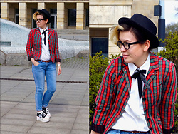 Karolina R. - Thrifted Blazer, Shirt, New Yorker Pants - Teddy Boy