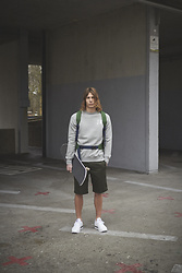 Richy Koll - Reebok Sneakers, Dickies Shorts, Nike Sweater, Nike Backpack, Urban Outfitters Skateboard - Www.richywho.com Campaign shooting with Urban Outfitters