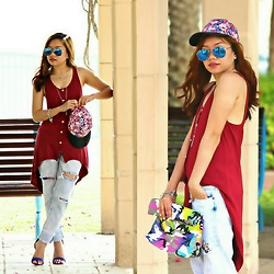 Krissy Pronto - Cotton On Floral Cap, Forever 21 Boyfriend Jeans - Summer Feelin'