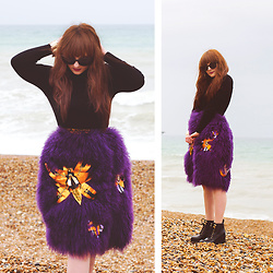 Wioletta M -  - Purple Fluffy Skirt