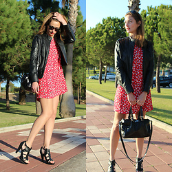 Ecoblogger Cristina Carrillo - Mango Dress, Zara Shoes, Blanco Jacket, Bimba Y Lola Bag, Persol Sunglasses - Estampados vivos