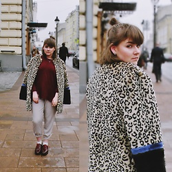 Sasha Raduntseva - Concept Club Faux Fur Coat, Monki Sweater, Pink Lady Pants, Street Shoes - I'm yours, you're no one's