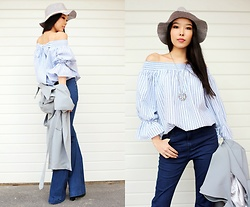 Aibina Yeshkeyeva - Chic Wish Blouse - BOW ON THE BACK