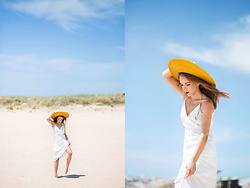 Silver Girl - Asos Maxi Dress, Mango Semiprecious Stone Neckalce, Uterque Cartwheel Hat - TROPICAL RESORT